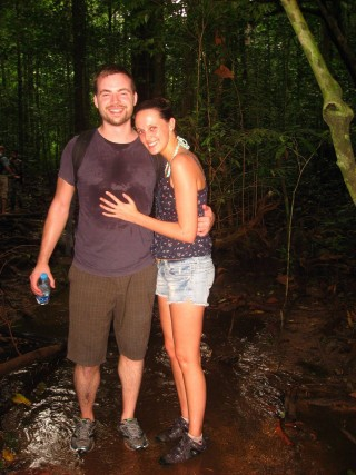 My Wife and I Avoiding Leeches in Thailand